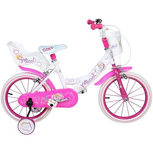 16 Zoll Micol Kinderfahrrad Fahrrad Anfängerrad Stützräder Mädchenfahrrad Kids Bike