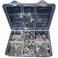 Sortiment Unterlegscheiben DIN 9021 Karosseriescheibe Edelstahl 265 Teile M3, M4, M5, M6, M8, M10