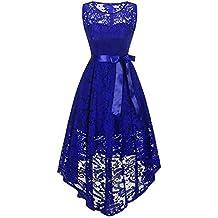 Modaworld Vestiti Donna Vestito da Cerimonia da Sera Premium Ricamato Vestito  Donna Spalla Elegante Cerimonia in 8c0217261a3