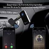 TaoTronics Bluetooth Empfänger Adapter Tragbare Bluetooth 4.0 Receiver Wireless Adapter Audiogeräte für Heim Auto Lautsprechersystem und Handy mit Stereo 3.5 mm Aux - 5