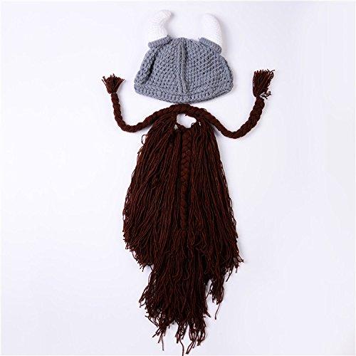 Personalisierte Stricken Hut (stts Personalisierte Schal Hut Bärtigen Hörner Stricken Hut Kreative Weihnachten Hut,A)