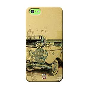 AllDeviceSkin Old Fashion Car Special Effect High Quality Print Hard Back Case Cover for Apple iPhone 5C (Design-Car-Bike-10)