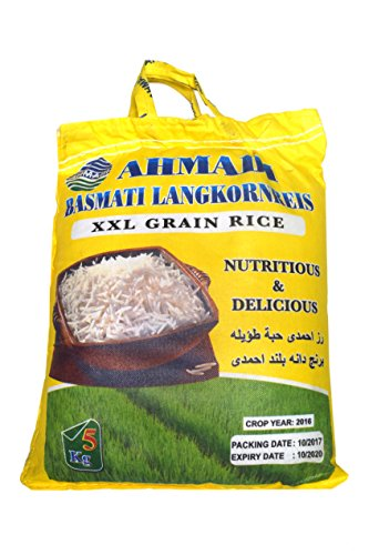 AHMADI Basmatireis Creamy Sella, High Quality, XXL Korn (5 kg)