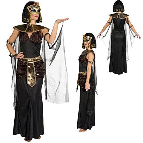 NET TOYS Costume da Cleopatra Abito da Donna egiziana S 40/42 - Vestito da Regina egizia Outfit regnante egiziana Travestimento per Carnevale Stile antichità Mascheramento Faraone