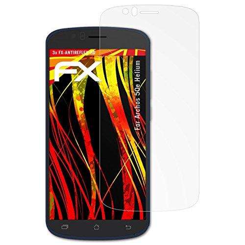 atFolix Schutzfolie kompatibel mit Archos 50e Helium Displayschutzfolie, HD-Entspiegelung FX Folie (3X)