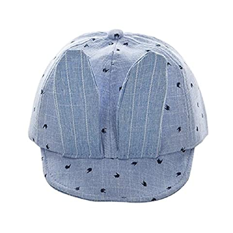 Baby Beanie Hats and Caps, Transer® Baby Beanie For Boys Girls Hats Unisex Cute Cotton Hat Children Print Hats Kids Baseball Caps (Blue)