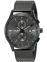 Akribos XXIV Reloj de cuarzo Man AK905BK 45 mm