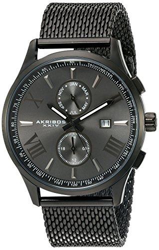 Akribos XXIV Orologio al quarzo da uomo, 45 mm
