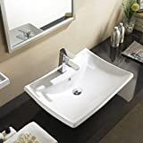 UEnjoy Rectanglar Ceramic Corner Top Basin Sink