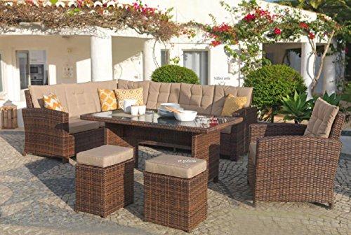 Mojawo Luxus esquina Lounge 6piezas muebles de jardín ratán Set rinconera Jardín...