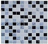 Crystiles schälen und Stick DIY Duett Tile Aufklebbares Vinyl Wand Fliesen, Perfekte Duett Idee für Küche und Badezimmer Décor Projekte, Artikel # 91010850, 25,4x 25,4cm, je 6Blatt Pack