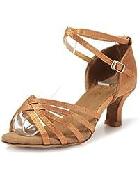 Zapatos de tacón para Salsa, Bachata, bailes latinos, color negro, 34