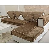 Sofaüberwurf L-Form Segmentiertes Sofa Sofabezug Plüsch Sofakissen Sofa Anti-Rutsch-Sofabezug Dickes Sofa Haustierhandtuch, Gray, 110 * 210cm