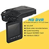 #2: A Z Link Mini 2.5-Inch Dash Cam With HD Car Led Ir Vehicle DVR Road Dash Video Camera Recorder Rotatable Traffic Dashboard Camcorder - Lcd Recorder With 270 Degrees Whirl Black