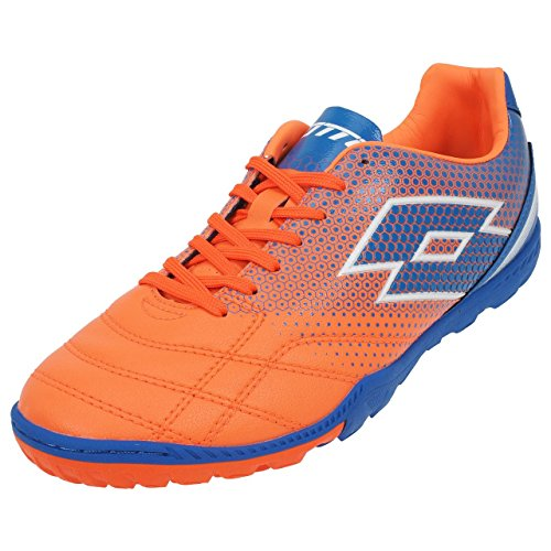 lotto-spider-700-xiii-tf-chaussures-de-football-homme-multicolore-naranja-azul-fant-fl-blu-shv-41-eu