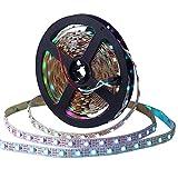 WS2812B CHINLY 5m 300leds DC5V einzeln adressierbaren LED-Streifen 5050 RGB SMD 300 Pixel Traumfarbe wasserdicht IP67 PCB Weiß