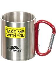 Trespass - Taza de hojalata con mosquetón Modelo Bruski para viaje - Acampada/Camping/Montañismo