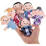 TWISHA Family Finger Puppet (Multicolour) - Set of 6