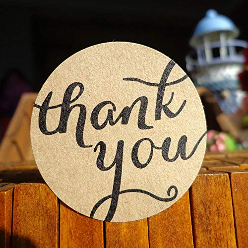 Olivialulu 102 Stücke danken Ihnen Aufkleber-runder Liebes-Form-Backen-Kasten-Pudding-Flaschen-Kraftpapier-Aufkleber kundengerecht