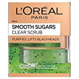 Best Facial Scrubs - L'Oreal Paris Smooth Sugar Clear Kiwi Face Review