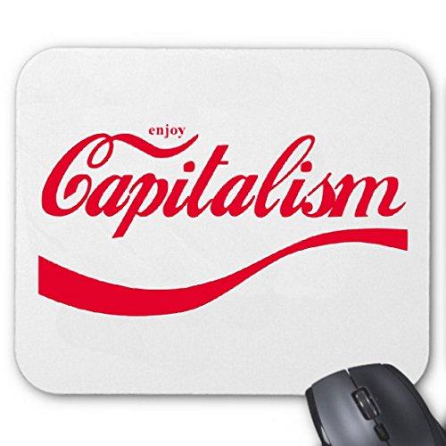 """Tappetino per Mouse del Computer """"Enjoy capitaiismo Coca Cola ondulati Cult retro"""" per il tuo portatile, notebook o PC Internet .. (Windows Linux, di sfilare le cinture)"""