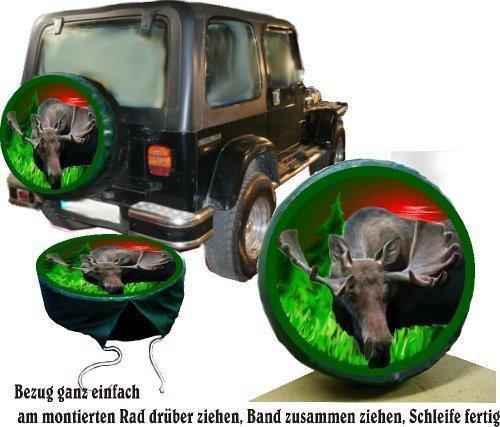 Bezug Reserverad Abdeckung Wildmotiv Elch für Jagd - Suzuki (Jeep Reserverad Abdeckung Jagd)
