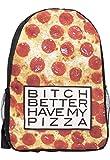 Rucksack Pizza Essen Hipster Swag Tasche Ranzen Tornister Schule Sport Tasche