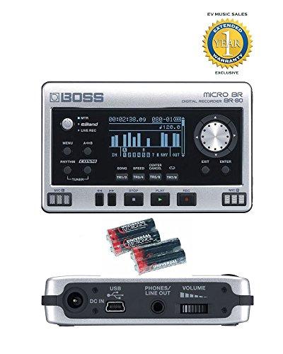 BOSS Micro BR BR-80 8 pistas grabadora digital 4 pilas