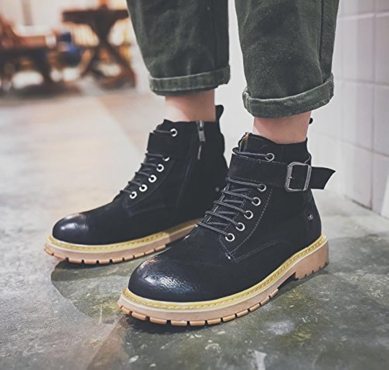 HL-PYL-La nieve botas zapatos y botas de cachemir en coreano botas altas Martin ayudar a calentar,38,negro