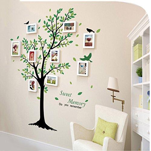 Preisvergleich Produktbild Fu Man Li Trading Company Kombination Foto Wand 9 Box grün pastoralen Wind Halle Korridor kreative kleine Wand Treppe Massivholz Foto Wand A+ ( Farbe : Pure white )