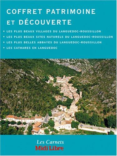 Coffret Découverte & patrimoine : Les plus beaux sites naturels ; Les plus beaux villages ; Les Cathares en Languedoc ; Les plus belles abbayes