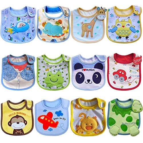 SLOSH 12 Baberos Impermeables Bebe Recien Nacido Niño