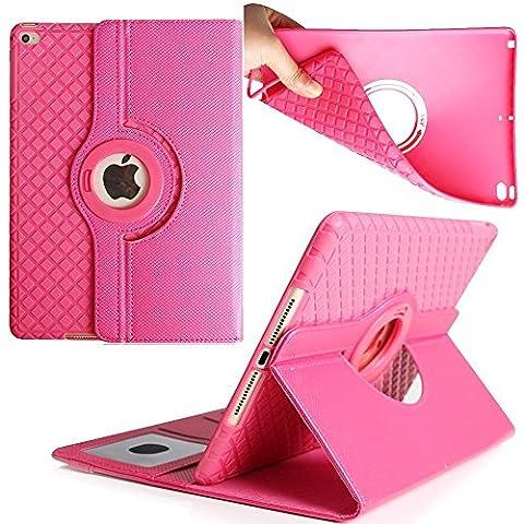 9.7 inch Tablet Case iPad Air 2 Coque, Avril Tian magnétique rotatif à 360 ° support de fin avec emplacements pour cartes Smart écran de protection amovible Coque pour tablette Apple iPad Air 2 9.7