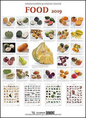FOOD 2019 – Lebensmittel-Warenkunde – Küchen-Kalender von DUMONT– Poster-Format 49,5 x 68,5 cm