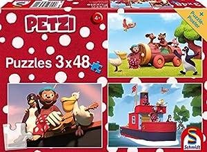 Schmidt Spiele Puzzle 56231petzi, a Ins Aventura, 3x 48Piezas Niño Rompecabezas