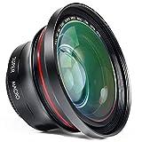 ORDRO Professional 72mm Full HD 0,39x Lens Set, 2-in-1 Obiettivo Grandangolare + Obiettivo Macro per Videocamera