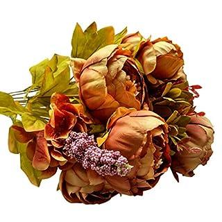 Ahatech Pfingstrose Blume künstliche Blume gesetzt europäischen Stil Kern Pfingstrose gefärbt hochwertige gefälschte Blumen Hochzeit Blumen Dekoration Herbst Pfingstrose