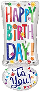 "Amscan International 3561401 ""Happy Birthday To You! Globo de Papel de Aluminio"
