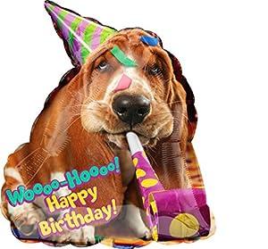 Amscan International 3652801 Avanti Basset - Globo de papel de aluminio para cumpleaños