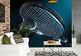 Wallsticker Warehouse Tennis Tennisschläger Ball Neon Fototapete - Tapete - Fotomural - Mural Wandbild - (1617WM) - XL - 208cm x 146cm - VLIES (EasyInstall) - 2 Pieces