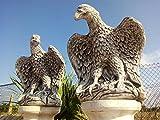 Pareja DE Aguilas DE Piedra para Jardin O Exterior 58cm.