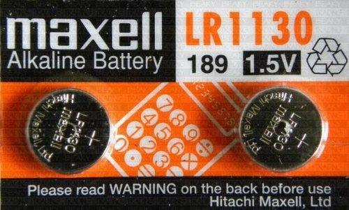 Maxell LR1130 / LR54 / G10A / KA54 / 189-1 / RW89 / L1131 / V10GA / GP89A / 189 / 389A / 390A / AG10 / D189 Alkaline Batterie (1,5 V, Blisterverpackung) 2 Stück