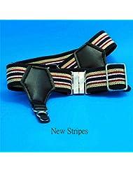 1 Par de agarre de los hombres atractivos de la liga de las ligas del calcetín Pin Accesorios Nueva rayas
