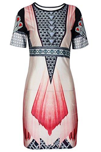 E-Girl D22227 femme mode robe mini Multicolore