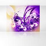LanaKK - Lightning Lila - Fototapete Poster-Tapete - edler Kunstdruck auf Vliestapete mit Stuck Optik in 300x240 cm