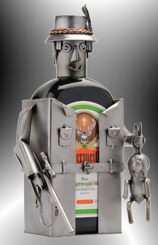 Boystoys HK Design Likör Flaschenhalter Jäger - Metall Art Flaschendeko - Original...