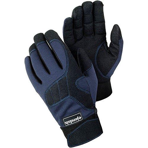 Blau-arbeits-handschuhe (Ejendals Handschuh Tegera 320 aus Synthetikleder, Größe 10, 1 Stück, schwarz/blau, 320-10)
