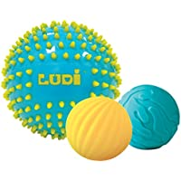 Ludi Set de 3 Balles Sensorielles Bleu
