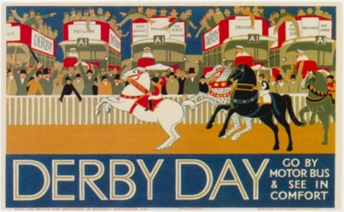 London Underground - Derby Day 1928 - LU059 Superior Canvas A4 Size