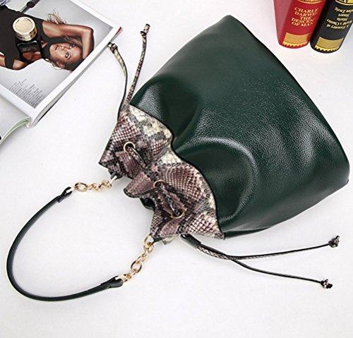 YAAGLE Damen Eimer Tasche modern Schultertasche einfach Umhängetasche wasserdicht Tasche licht rosa